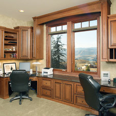 Mediterranean Home Office by Kelly Krouse Kitchens