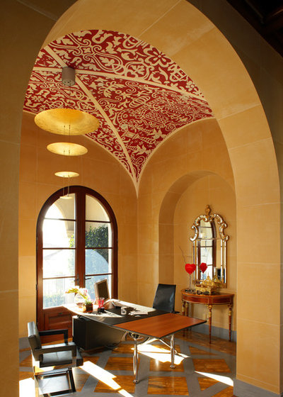 Mediterranean Home Office by Sinclair Associates Architects