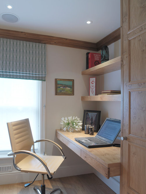 Inspiration For A Farmhouse Built In Desk Home Office Remodel London