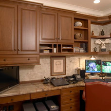 Traditional Home Office by Stackman Custom Homes Inc.