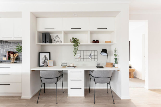 Industrial Home Office by JG King Homes