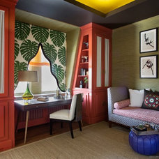 Contemporary Home Office by Benjamin Moore