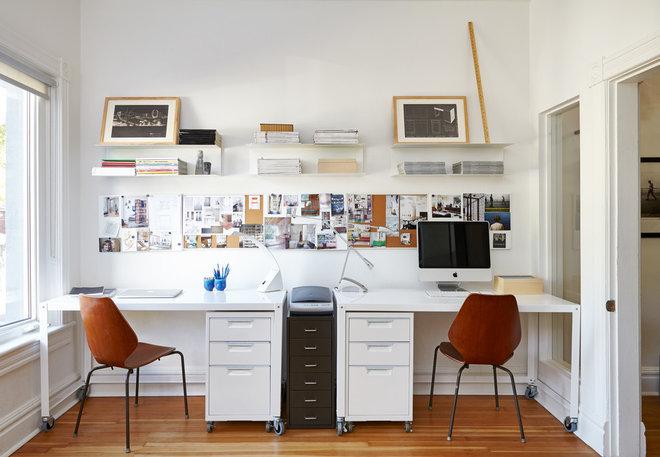 Scandinavian Home Office by Lisa Lev Design