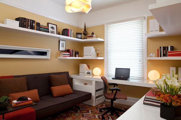 Traditional Home Office by De Meza + Architecture