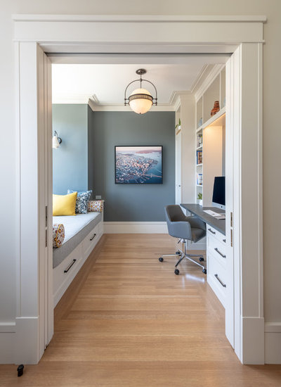 Transitional Home Office by Gast Architects