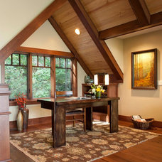 Traditional Home Office by Living Stone Construction, Inc.