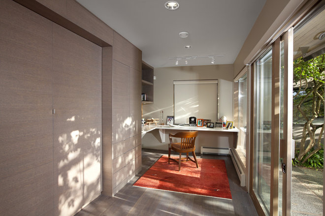 Contemporary Home Office by Best Builders ltd