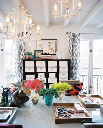 Eclectic Home Office by Burnham Design