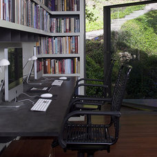 Contemporary Home Office by Laura Roberts Design
