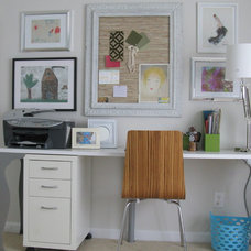 Eclectic Home Office by Shoshana Gosselin