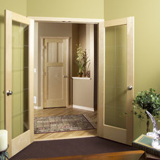 Modern Home Office by Stallion Doors and Millwork