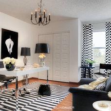Eclectic Home Office by Rachel Blindauer Interior Design