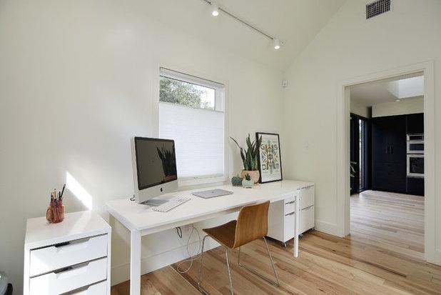 Transitional Home Office by Arbib Hughey Design