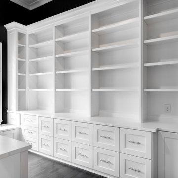 Black/White Home Office by PrimeDesignDFW.com