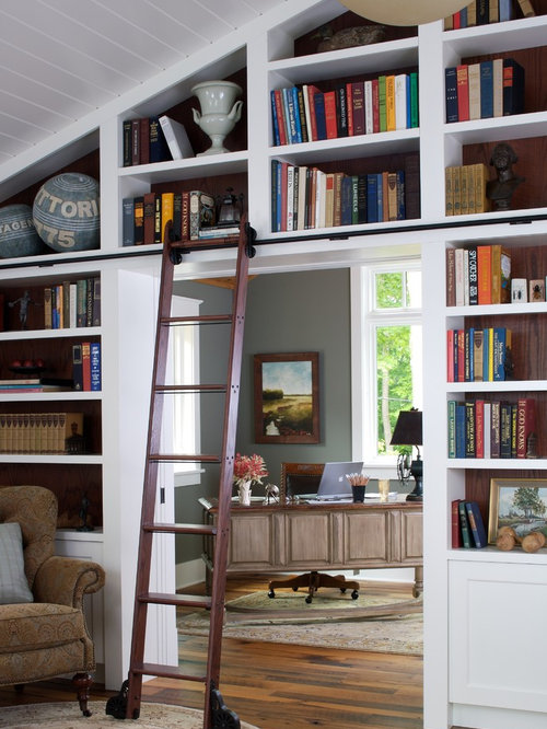 Custom Rolling Ladder Bookcase – Rolling Ladders for Bookcases