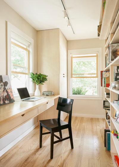 Contemporain Bureau à domicile by Caleb Johnson Architects + Builders