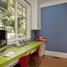 Contemporary Home Office by White Picket Fence, Inc