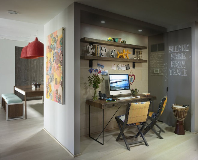 Eclectic Home Office by Incorporated