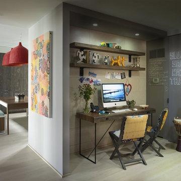 Bohemian Apartment Homework Area