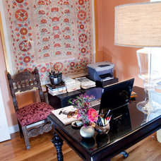 Eclectic Home Office by Lisa Wolfe Design, Ltd