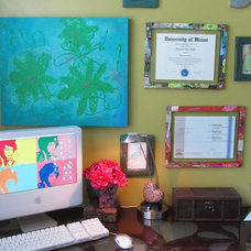Eclectic Home Office BoHo Bedroom Office