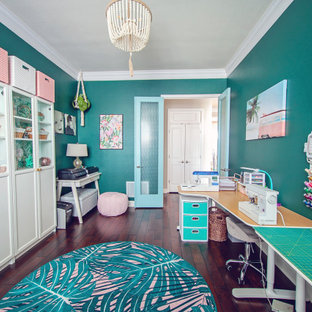 Boho Miami Glam Office/Sewing Room