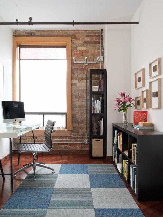 urban home office industrial chic | houzz