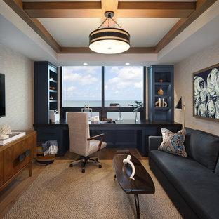 На фото: кабинет в стиле модернизм