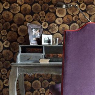モスクワのエクレクティックスタイルのおしゃれなホームオフィス・書斎の写真
