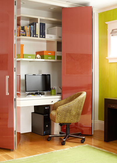 Contemporary Home Office & Library by Applegate Tran Interiors