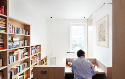 Houzz Tour: A London Book Tower House Worth a Browse