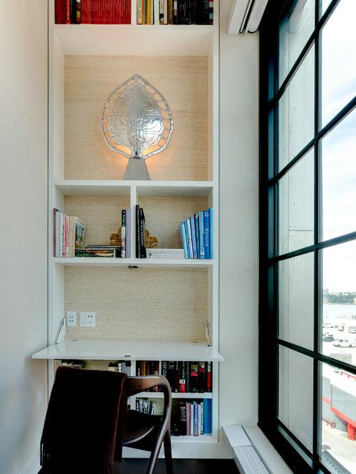 Hidden desk home office design ideas renovations photos for Hidden home office ideas