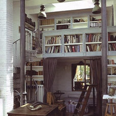 Eclectic Home Office Bookshelves