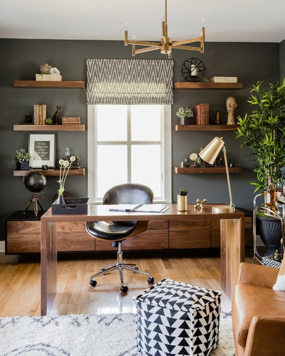 Contemporary Home Office by Angela Ballard