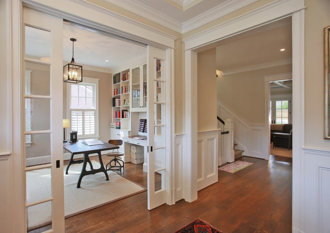 Traditional Home Office by Finecraft Contractors, Inc.