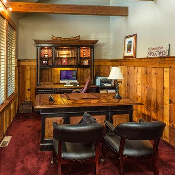 Brasada Ranch home design single story  with media room over garage