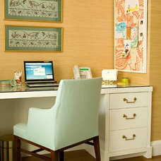 Traditional Home Office by Elizabeth Dinkel