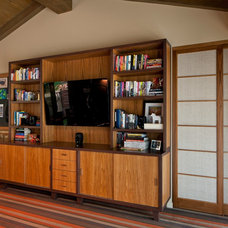 Midcentury Home Office by Susan Jay Design