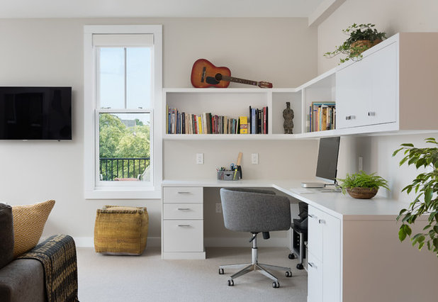 Contemporary Home Office by Marcye Philbrook