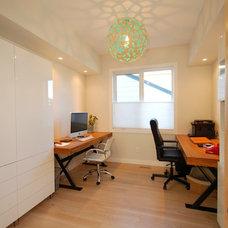 Contemporary Home Office by Metro Enterprises Ltd.
