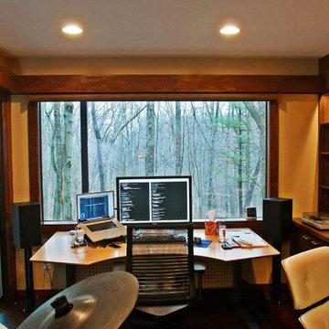 Bright Home Office from Former Dark Room