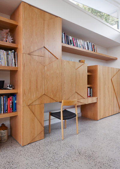 Contemporary Home Office & Library by FMD Architects