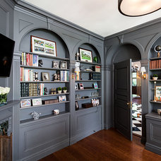 Transitional Home Office by Anjali Pollack Design