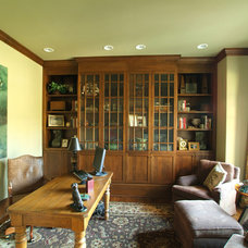 Traditional Home Office by Cabinet Resources