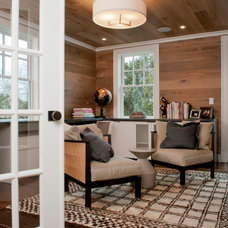 transitional home office by Dietz & Associates Inc.