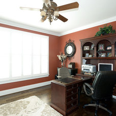 Traditional Home Office by Claude C. Lapp Architects, LLC