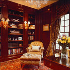 traditional home office brown davis interiors inc atherton library traditional home office