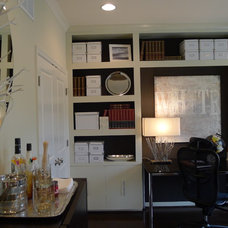 Contemporary Home Office by Carlyn And Company Interiors + Design