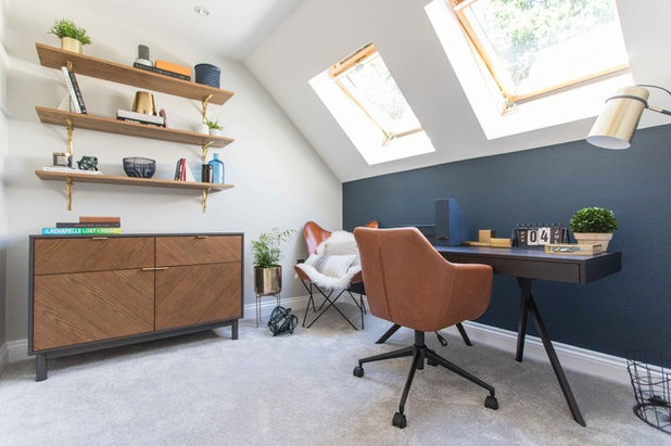 Contemporary Home Office & Library by Space Shack