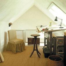 Farmhouse Home Office by Laura Bohn Design Associates